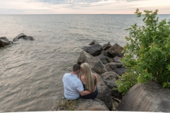 Lake Ontario, engagement photography, water, sunset