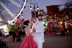 Nighttime engagement session, Clifton hill portraits , niagara falls ontario