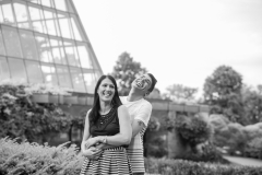 Niagara Falls portraits, Floral Showhouse, laughing couple, niagara parkway