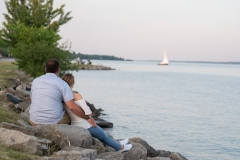 Sunset engagement photos, Barrie, Downtown , Sail boat, Sunset Portraits