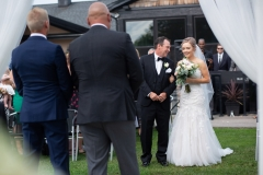 Bride and dad, isle, wedding 2019 niagara , Beechwood Golf Course