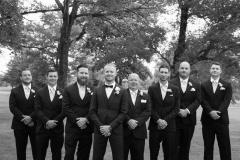 beechwood golf course wedding , groom and groomsman