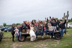 country wedding, hayride wedding