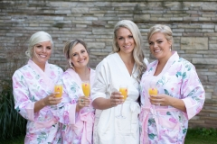 Bridesmaid robes , getting ready photos, champagne