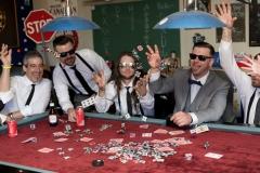 Poker wedding photos, card games wedding,