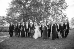 Oak hall wedding party,