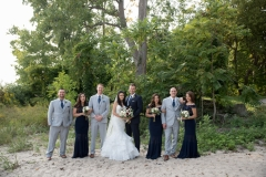 beach wedding party photos, fort erie wedding photography location