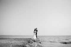 Lake Erie Wedding Portrait, Beach wedding portraits,