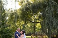 Botanical gardens wedding, willow tree wedding portrait, niagara wedding photographer