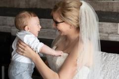 mom and son wedding