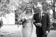 bride and father, walk down isle, beamer falls manor wedding