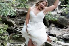beamer falls manor wedding , hike, waterfall wedding portrait , silly wedding photos