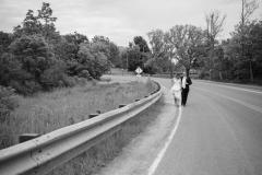 beamer falls manor wedding , hike, waterfall wedding portrait , street wedding photography
