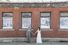 couple in love wedding photo downtown