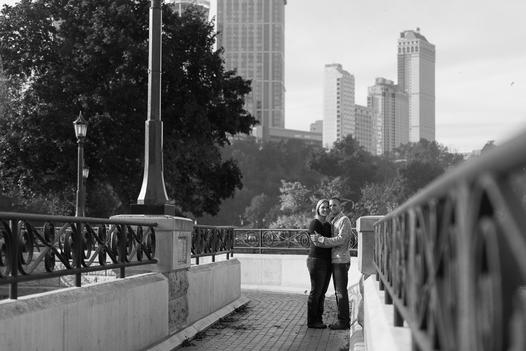 happy couple hugging engagement photo - muir image photography