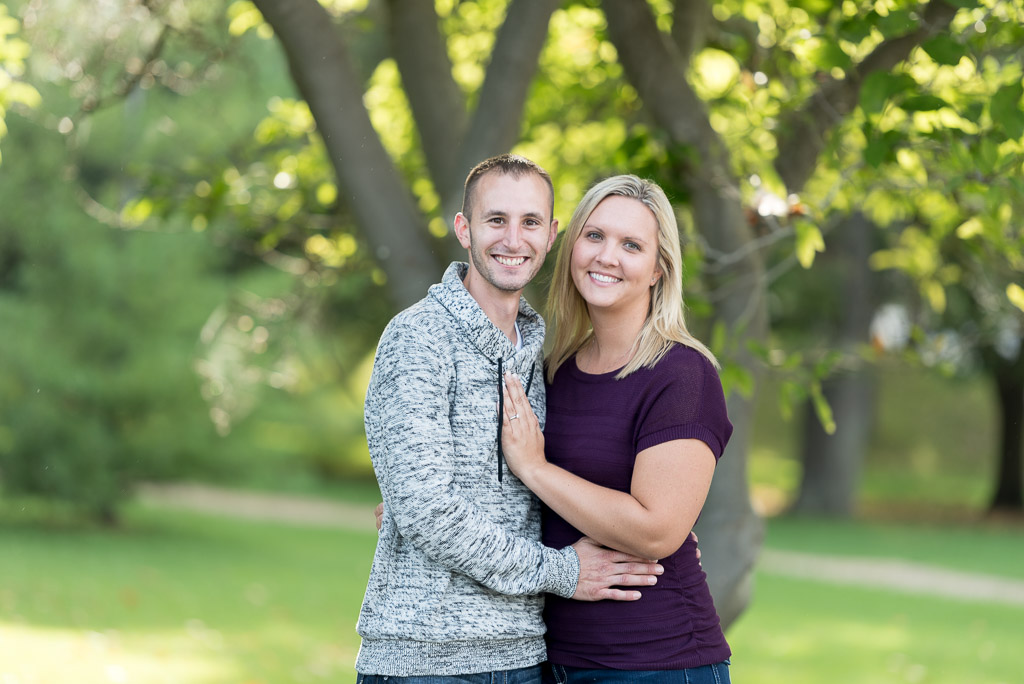 happy couple engagement photo proposal - muir image photography