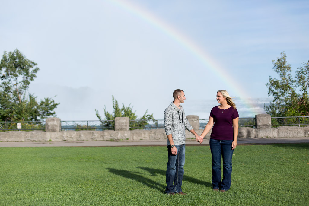 happy couple holding hands engagement photo - muir image photography