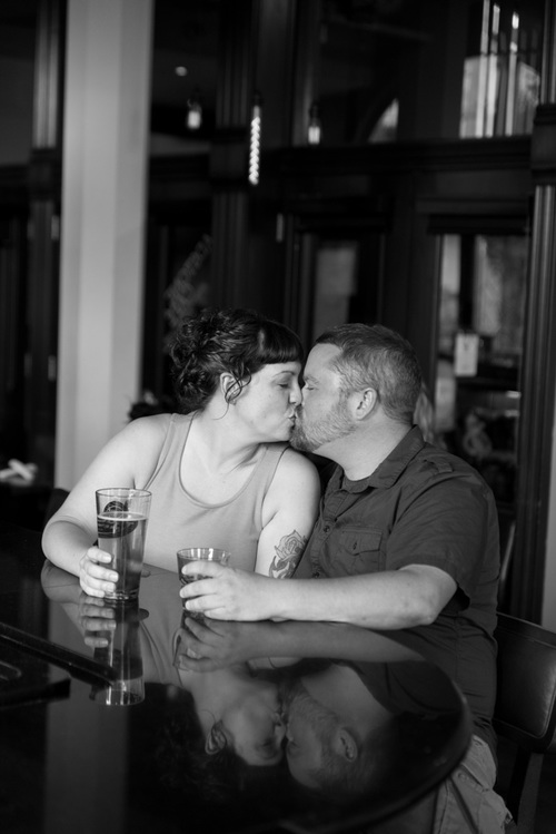 happy couple kissing - muir image photography